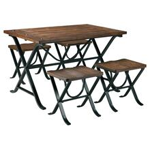 5 Piece Set (Table and 4 Stools)