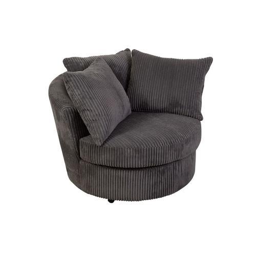 Porter International Designs - Big Chill Charcoal Sofa, Loveseat, 1.5 Chair & Swivel Chair, U2249