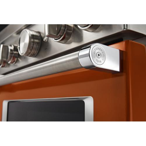 KitchenAid® 36'' Smart Commercial-Style Gas Range with 6 Burners - Scorched Orange
