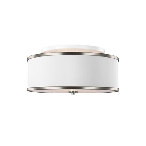Lennon Medium Semi-Flush Mount Satin Nickel