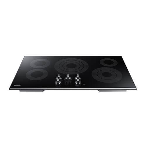 "36"" Electric Cooktop in Stainless Steel"