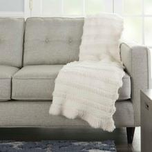 "Throw Vv190 Ivory 50"" X 60"" Throw Blanket"