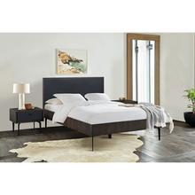 See Details - Cross Dark Gray Solid Oak Queen 3 Piece Bedroom Set