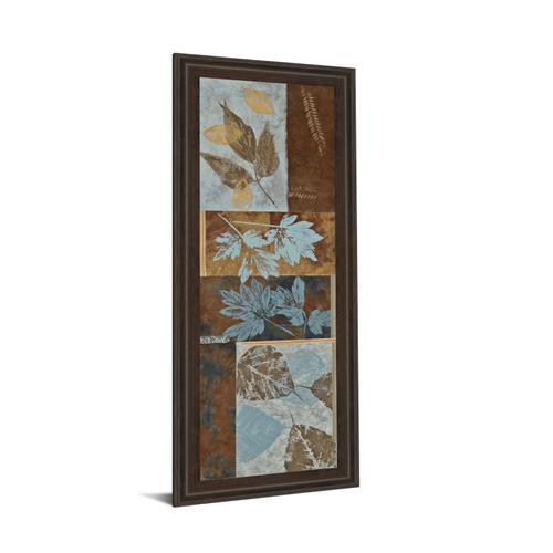 """Blue Fusion Panel Il"" By Jeni Lee Framed Print Wall Art"