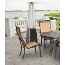 See Details - Hanover 7-Ft. 42,000 BTU Pyramid Propane Patio Heater in Black with Weather-Protective Cover, HAN101BLK-CV
