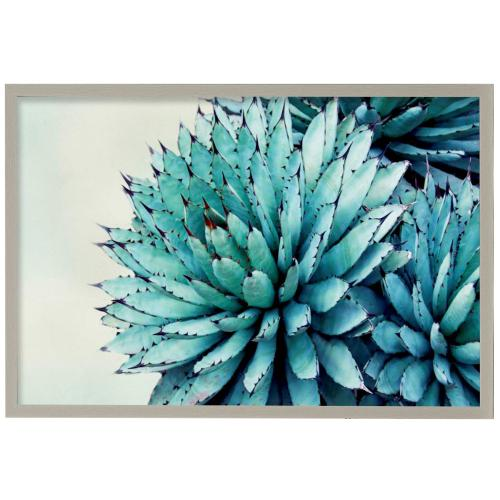 Style Craft - Green Crush Ix  Made in USA  Artist Print  Faux Wood Frame Under Glass  Attached Hanging Hardwar