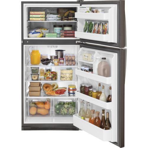 GE Appliances - GE® 20.8 Cu. Ft. Top-Freezer Refrigerator