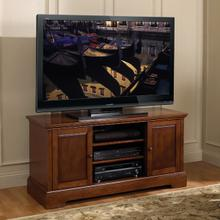 See Details - WAVS334 No Tools Assembly European Mahogany Finish A/V Cabinet fits most TVs up to 55 inches from Bell'O International Corp.