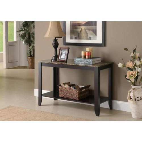 """Gallery - ACCENT TABLE - 44""""L / ESPRESSO MARBLE TOP"""