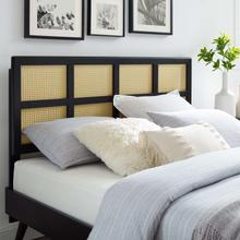 Luana Cane Full Headboard in Black