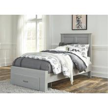Arcella Twin Panel Bed With Storage Gray