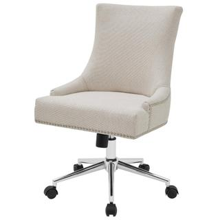 Charlotte KD Fabric Office Chair, Cardiff Cream