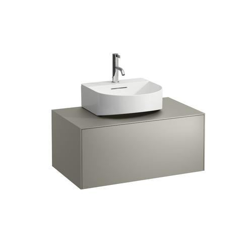 White Matte Drawer element, 1 drawer, matching washbasins 816341, 816342, centre cut-out