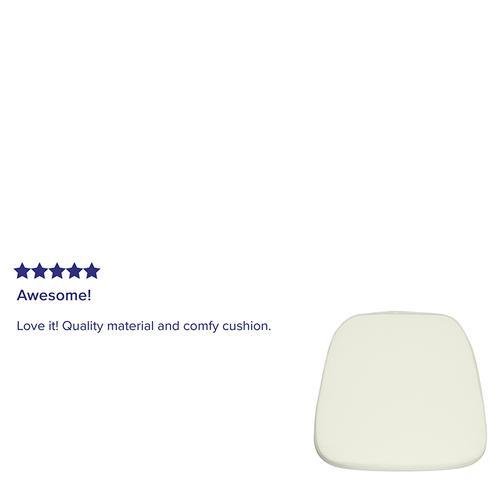 Flash Furniture - Soft Ivory Fabric Chiavari Chair Cushion