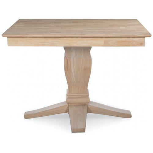 """John Thomas Furniture - 42"""" Square Solid Table Top with 10"""" Java Pedestal"""
