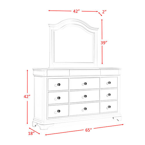 Cameron Cherry Dresser & Mirror Set