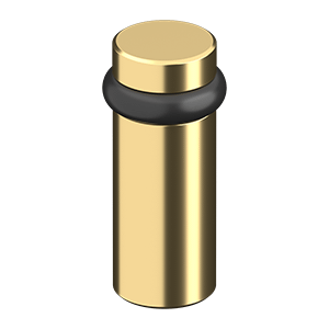 "ROUND UNIVERSAL FLOOR BUMPER 3"", SOLID BRASS - PVD Polished Brass"