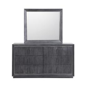 Echo Mirror in Charcoal