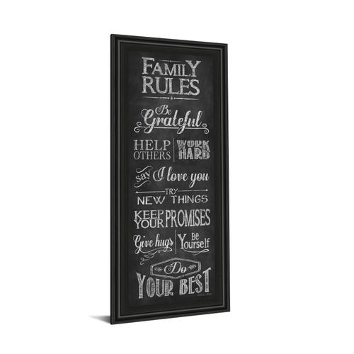 """""""Family Rules"""" By Susan Ball Framed Print Wall Art"""