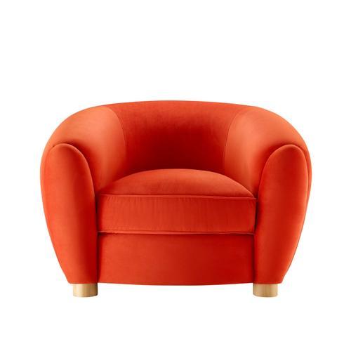 Modway - Abundant Performance Velvet Armchair in Orange