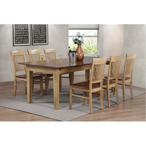 Rectangular Extendable Dining Table (7 piece)