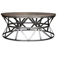 See Details - Coffee Table, Available in Silver Iron Finish Only