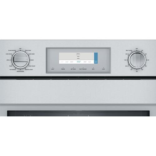 Thermador - Single Wall Oven 30'' Left Side Opening Door, Stainless Steel POD301LW