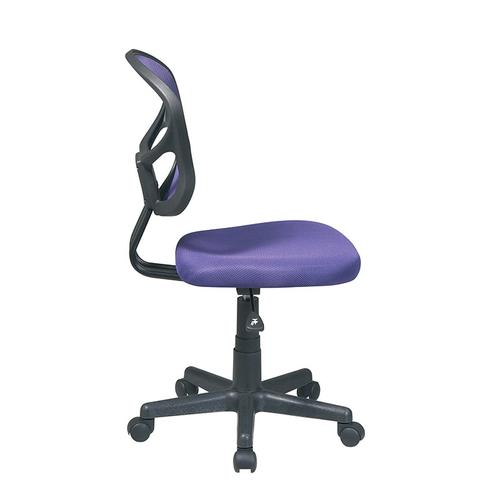 Mesh Task Chair In Purple Fabric