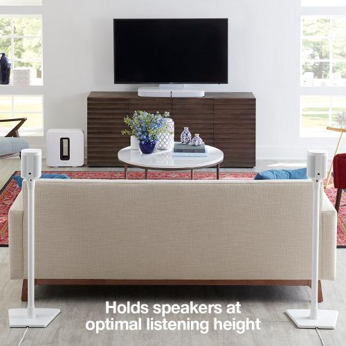 White- Place your compact speaker right where you need it. Robust, heavy-duty design.