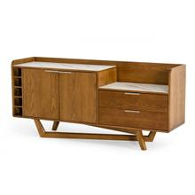 Modrest James - Contemporary Walnut & White Buffet