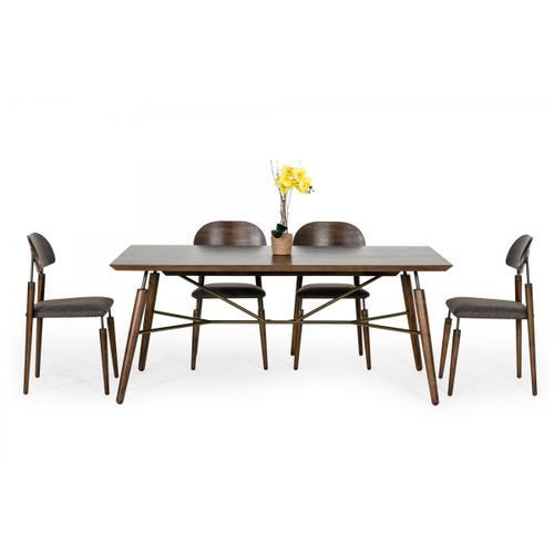 Modrest Sebring - Mid-Century Modern Acacia Dining Chair (Set of 2)
