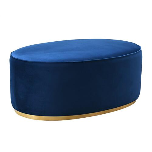 Tov Furniture - Scarlett Navy Ottoman