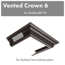 ZLINE Vented Crown Molding Profile 6 For Wall Mount Range Hood (CM6V-8597B)