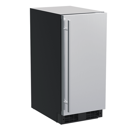 Marvel - 15-In Built-In Nugget Ice Machine with Door Style - Stainless Steel, Pump - Yes