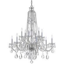 See Details - Traditional Crystal 12 Light Clear Swarovski Strass Crystal Chrome Chandelier