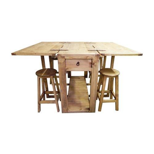 Gallery - Drop Leaf Island W/stools