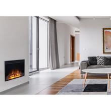 See Details - Cambridge 28-In. Freestanding 5116 BTU Electric Fireplace Heater Insert with Remote Control and 9-Hour Timer, CAM28INS-1BLK