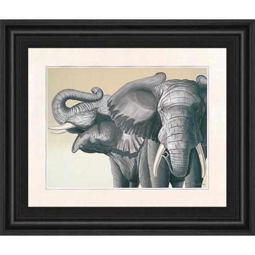 """Elephant"" By Peter Moustakas Framed Print Wall Art"