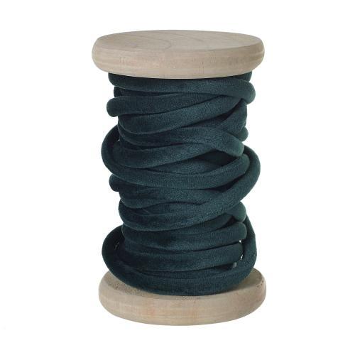 5.5 yards Green Velvet Yarn Spool