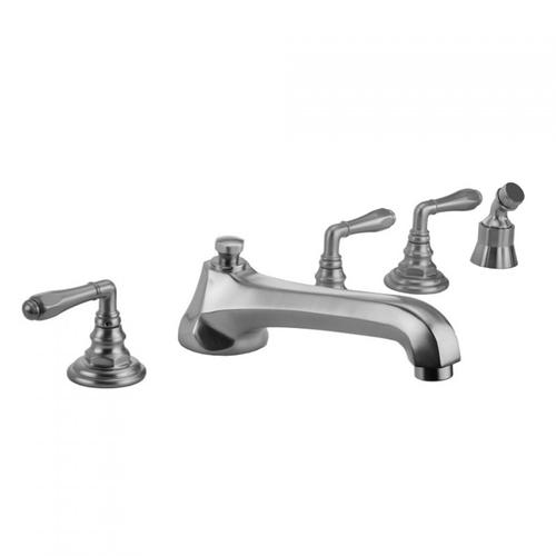 Jaclo - Pewter - Westfield Roman Tub Set with Low Spout and Smooth Lever Handles and Angled Handshower Mount