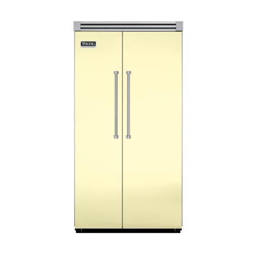 "Viking - Lemonade 42"" Side-by-Side Refrigerator/Freezer - VISB (Integrated Installation)"