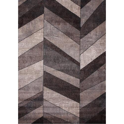 "Power Loomed Hand Carved Geometric Design Tara 306 Area Rug by Rug Factory Plus - 7'6"" x 10'3"""