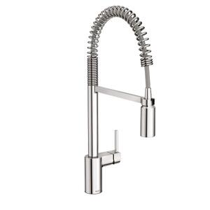 Align chrome one-handle pre-rinse spring pulldown kitchen faucet Product Image