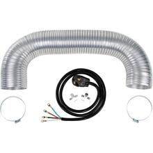 Electric Dryer Duct Kit with 4-Wire 30-Amp 6ft Cord