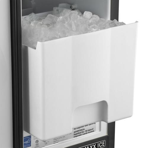 Maxx Ice 50 lb. Freestanding Icemaker in Stainless Steel and Black