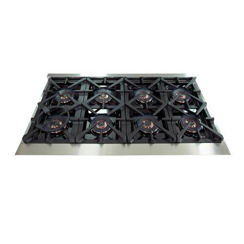 """Capriasca - Titanium Professional 48"""" Freestanding Gas Range"""