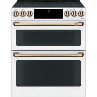 """Café ™ 30"""" Slide-In Front Control Radiant and Convection Double Oven Range"""