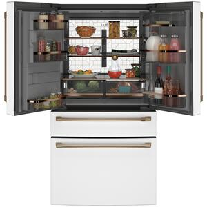 Cafe AppliancesENERGY STAR® 27.8 Cu. Ft. Smart 4-Door French-Door Refrigerator
