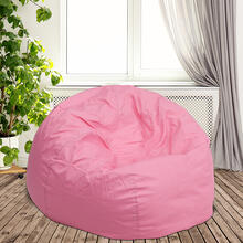 Oversized Solid Light Pink Bean Bag Chair for Kids and Adults