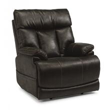 View Product - Fabric Power Recliner with Power Headrest and Lumbar